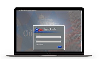 City of Chicago Online Election Worker Training Website in a computer