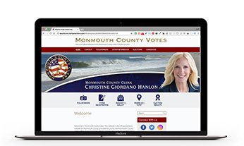 Monmouth County New Jersey Voter Education Screenshot in a computer