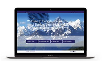 State of Alaska Electronic Ballot Delivery Website in a computer
