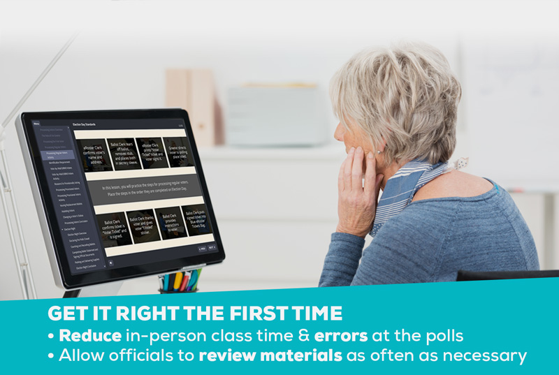 Online Election Worker Training reduces errors at the polls